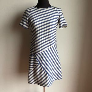 Wren sz M 100% silk striped dress